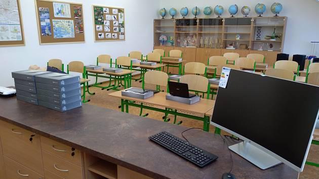 Nové učebny základní školy v Dolních Věstonicích.