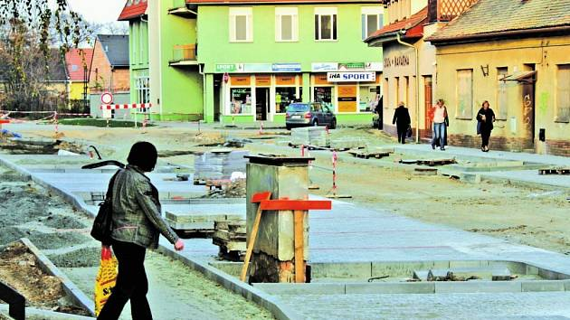 Husova ulice v Břeclavi
