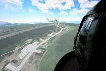 Simulátor vrtulníku. Ilustrační fotografie.