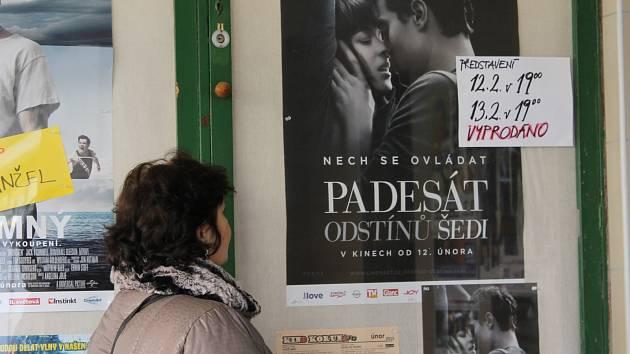 O film Padesát odstínů šedi byl v Břeclavi zájem.