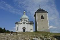 Kaple a zvonice na Svatém kopečku v Mikulově.
