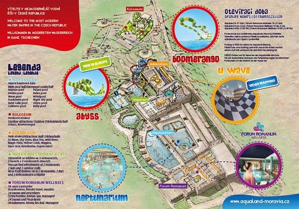 Aqualand Moravia - mapa.