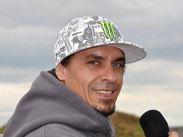 Motokrosová legenda Petr Kuchař.