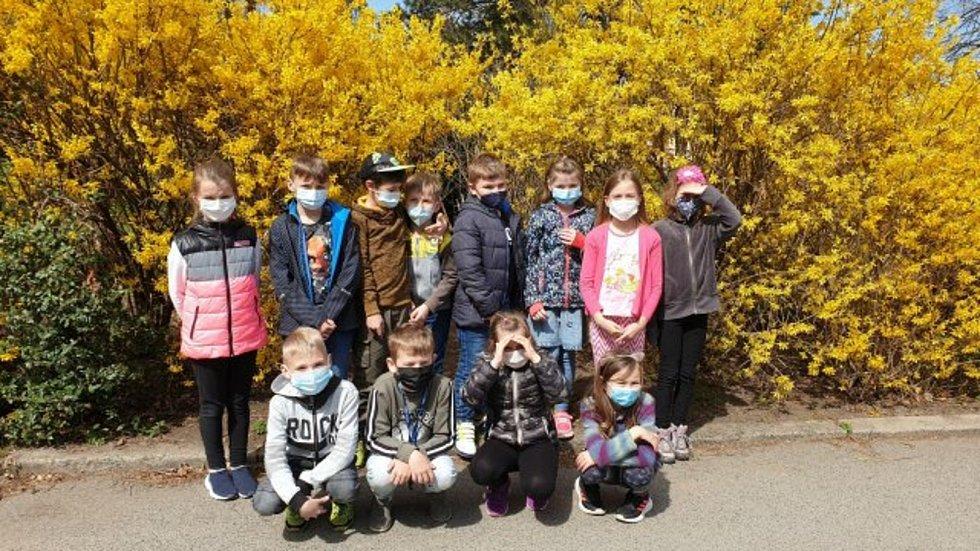 Děti se seznámily s léčivými bylinami, uklidily park a poslouchaly relaxační hudbu.