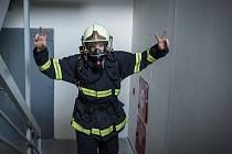 Václav Bažant začínal ve Velkých Němčicích na Břeclavsku jako dobrovolný hasič. Před pár týdny se však stal profesionálem. Slouží v libereckém hraji na stanici Česká Lípa. Foto: archív Václav Bažant