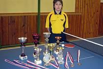 Denisa Pyskatá, nadějná stolní tenistka z Lanžhota.