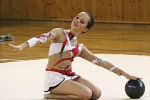 V hale břeclavské Lokomotivy se konaly oblastní přebory moderních gymnastek. I domácí závodnice se prosadily.