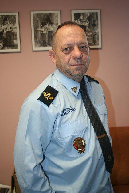 Velitel městské policie vBřeclavi Stanislav Hrdlička.