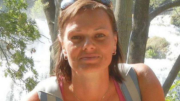 Hrající trenérka břeclavských volejbalistek Lenka Fabikovičová.