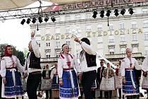 Národopisný soubor Pálava v Zagrebu.