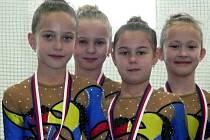 Mladé břeclavské gymnastky pokračují ve sbírání medailí i na začátku tohoto soutěžního ročníku.