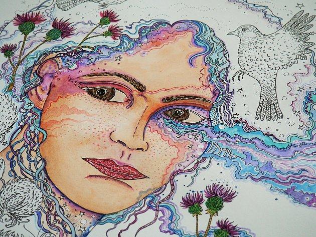 Mladá malířka Julie Vojková zBřeclavi.
