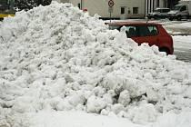 Tající sněhová peřina v Břeclavi.