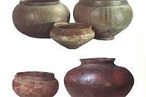 Základní tvary keramických nádob horákovské kultury.
