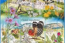 Známkový aršík vyšel vloni v září pod názvem Dolní Morava – biosférická rezervace UNESCO.