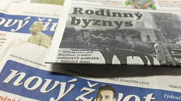 Týdeník Nový život vychází na Břeclavsku každý čtvrtek.