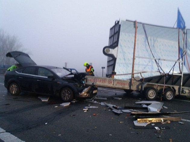 Nehoda vbřeclavské Lidické ulici.