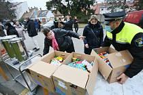 Potravinová sbírka města Břeclav pomůže potřebným v charitě i církvi.