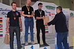 Cenné stříbro. Břeclavský veslař Aleš Pospíšil (na snímku vpravo) vybojoval v Piešťanech skvělé druhé místo v hlavním závodě mužů.