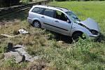 Na přejezdu v Dobrém Poli bouralo osobní auto s nákladním vlakem.