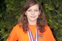 Denisa Piškulová je momentálně nejúspěšnější břeclavskou plavkyní.