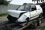 Nehoda dvou automobilů v Hustopečích.