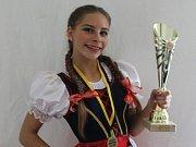 Kristýna Dubcová z Moravské Nové Vsi se stala mistryní republiky ve fitness dětí.