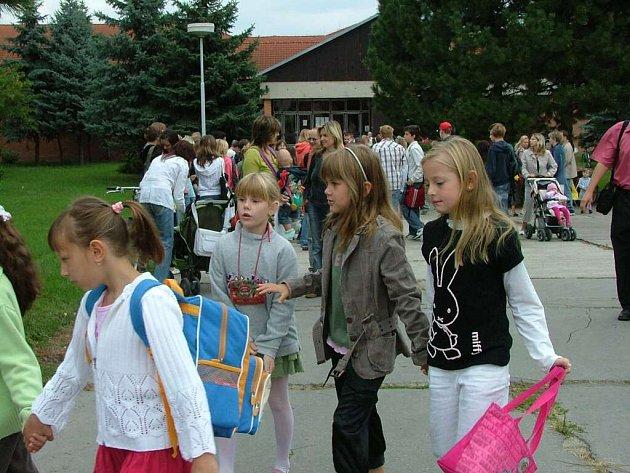 První školní den v břeclavské škole Slovácká