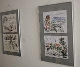 Břeclavský malíř Antonín Vojtek vystavuje výběr svých obrazů z posledních deseti let.