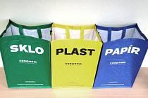 Město Břeclav nabízí svým obyvatelům zdarma tašky pro třídění odpadu.