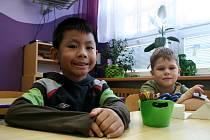 Děti při vyučování v přípravce do první třídy v Základní škole Valtická Břeclav.