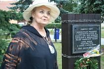 Kvůli památníku přijela i herečka Gabriela Vránová.