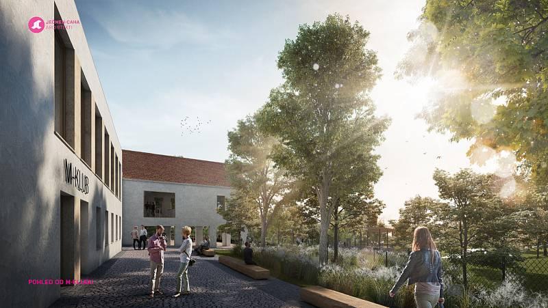 Architektonickou studii pro město Hustopeče zpracovalo studio Ječmen - Caha architekti. Vizualizace: se svolením města Hustopeče