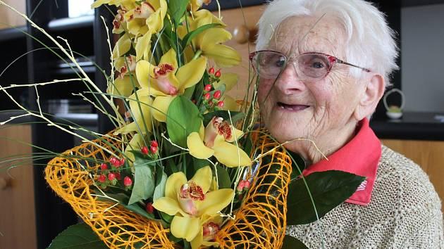 Marie Suchyňová z Lednice oslavila sté narozeniny.