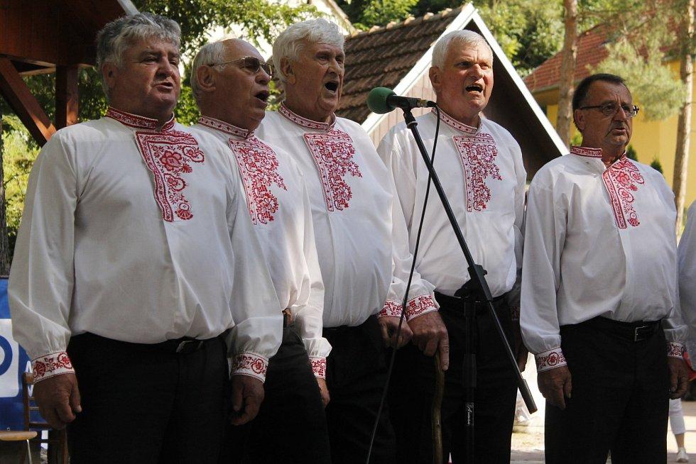 Milovníci folkloru a krojů si dali v sobotu setkání ve Starovicích. V tamním areálu U Myslivny se sešlo okolo tří stovek krojovaných z Břeclavska i dalších regionů. Přijeli dokonce i folkloristé ze Slovenska.
