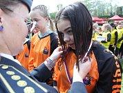 Mladí hasiči soutěžili.