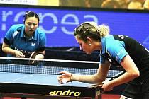 Břeclavské stolní tenistky v utkání s Cartagenou.
