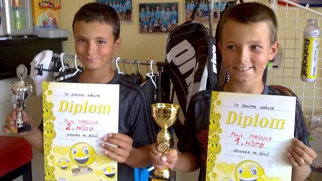 Vítězní bratři ve Znojmě. Zlatý Marek (napravo) a stříbrný Martin.
