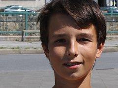 Mladý břeclavský tenista Marek Magula.