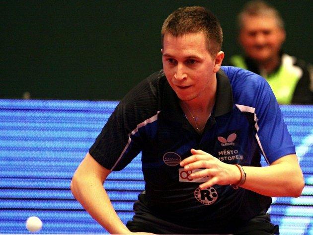 Hustopečský stolní tenista Kristian Kobes.