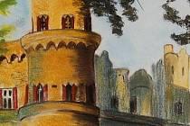 I Lednicko–valtickým areálem provádí návštěvníky hustopečeské knihovny malířka Martina Hofbauerová