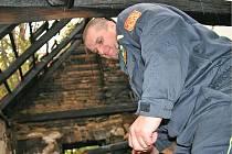 Při nočním požáru domu v Poštorné se jim neosvědčil nový informační systém