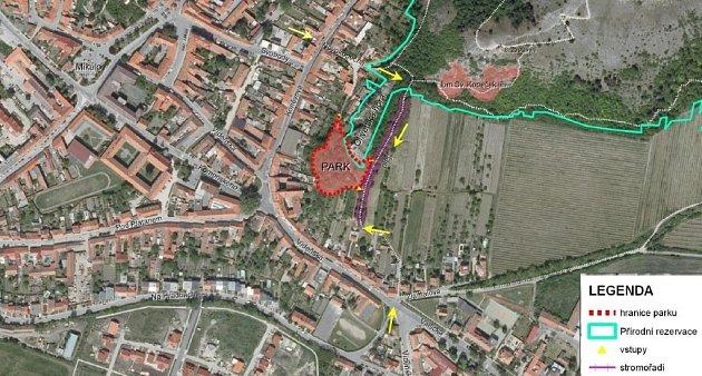 Snímek ukazuje oblast, vníž vznikne nová odpočinková zóna.