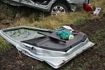 Nehoda dvou osobních aut se stala na silnici mezi Moravskou Novou Vsí a Mikulčicemi.