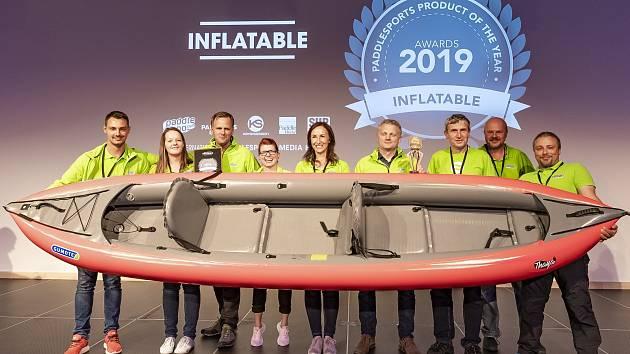 Nový typ nafukovací kanoe Thaya břeclavské společnosti Gumotex uspěl v německém Norimberku na celosvětovém veletrhu PaddleExpo.