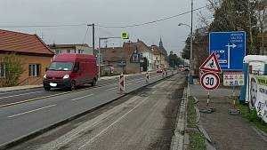 Opravy na silnici I/55 v Břeclavi