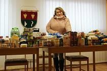 Morkůvečtí darovali jídlo do potravinové sbírky.