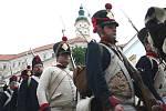 Napoleonova vojska bojovala s rakouskou armádou.