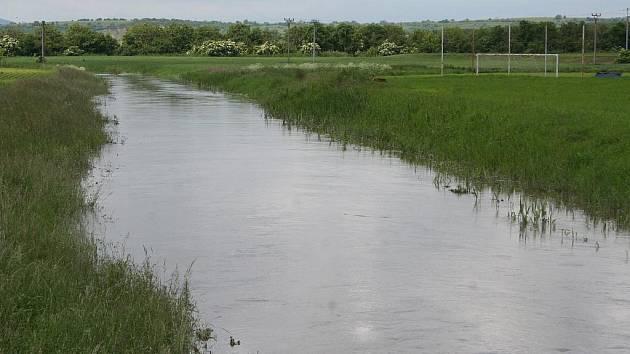 Velká voda v Bořeticích.