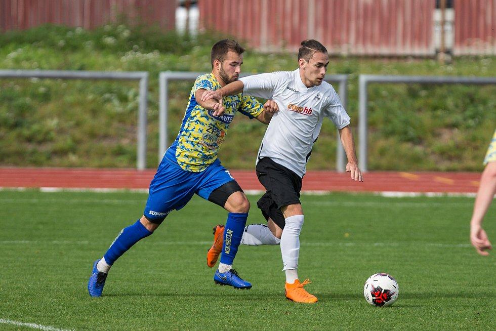 Fotbalové utkání mezi FC Slovan Havlíčkův Brod a MSK Břeclav.